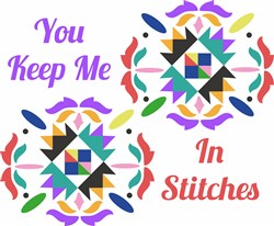 Quilt Square You Keep Me In Stitches print art