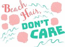 Shell Beach Hair Don t Care print art