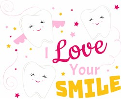 Tooth Fairy I Love Your Smile print art