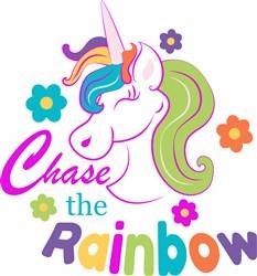 Unicorn Chase The Rainbow print art