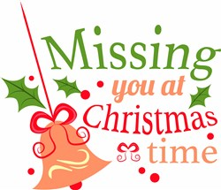 Bell Ornament Missing You At Christmastime print art