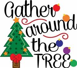 Christmas Tree Gather Around The Tree print art