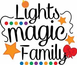 Christmas Tree Lights Magic Family print art