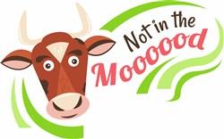 Cow Not In The Moooood print art