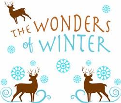 The Wonders Of Winter Reindeer print art