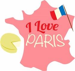 France I Love Paris print art