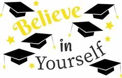 Grad Cap Believe In Yourself print art