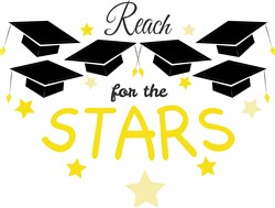 Grad Cap Reach For The Stars print art