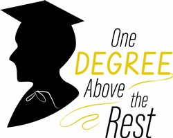 Grad Silhouette One Degree Above The Rest print art