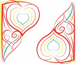 Heart Border Base print art