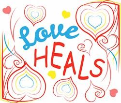 Heart Border Love Heals print art