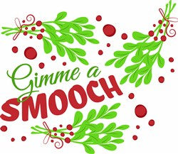 Mistletoe Gimme A Smooch print art