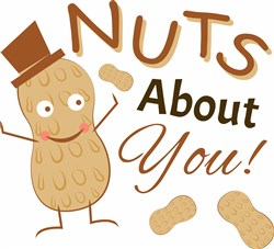 Peanut Nuts About You print art