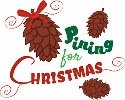 Pining For Christmas Pine Cones print art