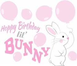 Hoppy Birthday Lil Bunny print art