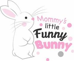 Mommy s Little Funny Bunny print art