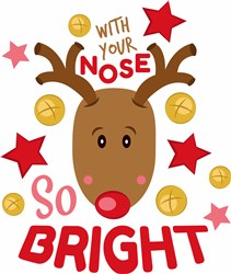 Rudolph With Your Nose So Bright print art