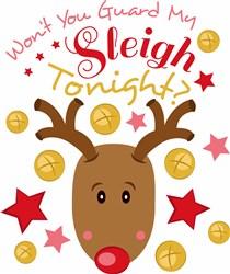 Rudolph Won t You Guard My Sleigh Tonight print art