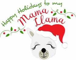 Santa Llama Happy Holidays To My Mama Llama print art
