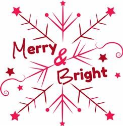 Snowflake Merry And Bright print art