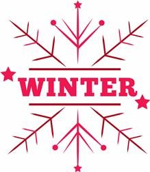 Snowflake Winter print art