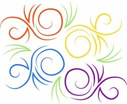 Swirls Base print art