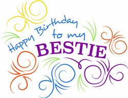 Swirls Happy Birthday To My Bestie print art