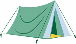 Camping Base print art