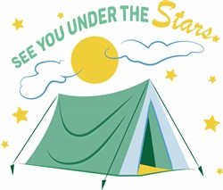 Camping See You Under The Stars print art