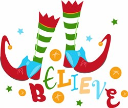 Elf Shoes Believe print art
