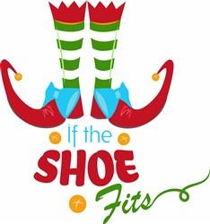Elf Shoes If The Shoe Fits print art