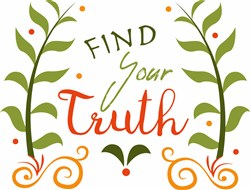 Floral Find Your Truth print art