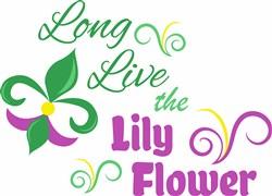 The Lily Flower print art