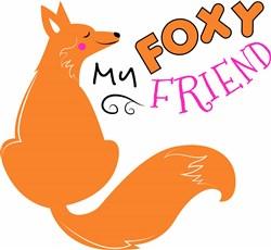 My Foxy Friend print art