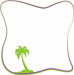 Palm Border v print art
