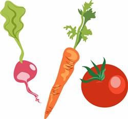 Vegetables print art