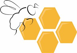 Bee Honeycomb print art
