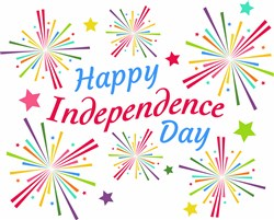Happy Independance Day print art