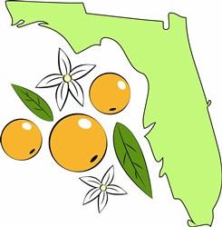 Florida Oranges print art