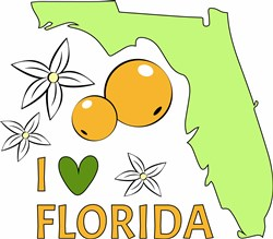 I Love Florida print art
