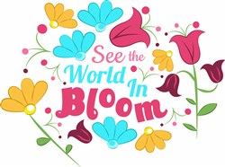 World In Bloom print art