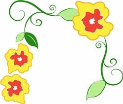 Flower Border print art