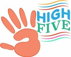High Five print art