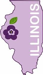 Illinois Violet print art