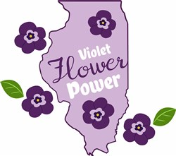 Violet Flower Power print art