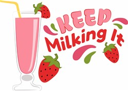 Keep Milking It print art