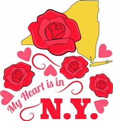 Heart In NY print art
