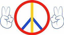 Peace Hands print art