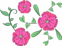 Pink Flowers print art