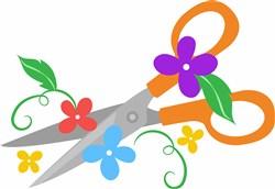 Floral Scissors print art